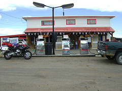 Hispanic Filling Station in the Desert